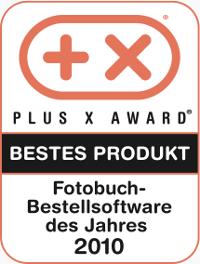 Plus X Award CEWE FOTOBUCH bestes Produkt des Jahres 2010