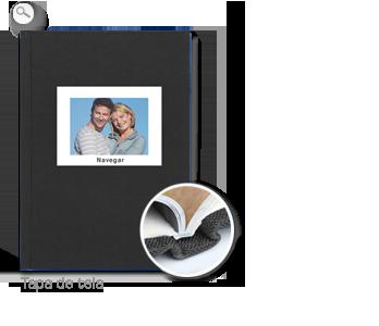 Encuadernación: Tapa de tela negra