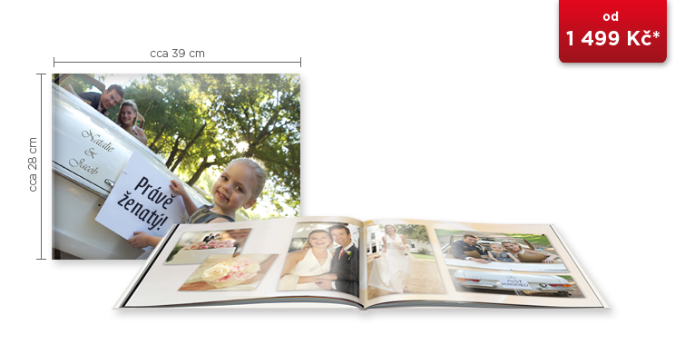 CEWE FOTOKNIHA XXL Panorama - digitální tisk ve vysokém lesku
