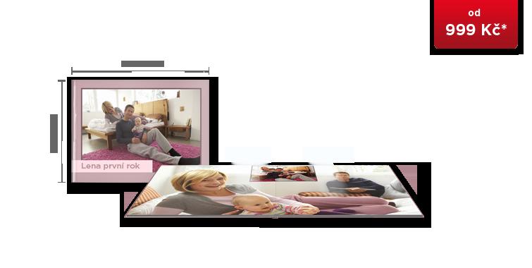 CEWE FOTOKNIHA Velká A4 panorama - fotopapír lesk