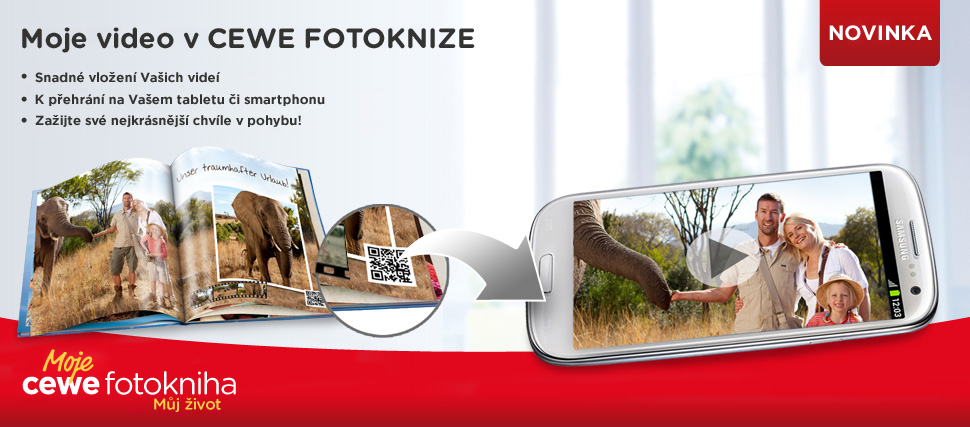 Video v CEWE FOTOKNIZE