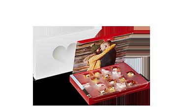Valentýnská bonboniéra s fotografií a produkty Ferrero
