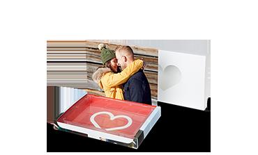 Valentýnská krabička s fotografií pro vlastní náplň