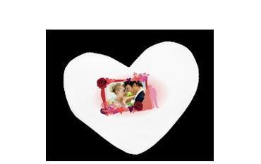 Polštář ve tvaru srdce