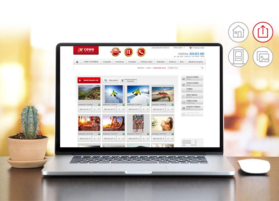 2.Jednoduchý a bezpečný přenos fotografií do Vámi zvolené prodejny ROSSMANN.