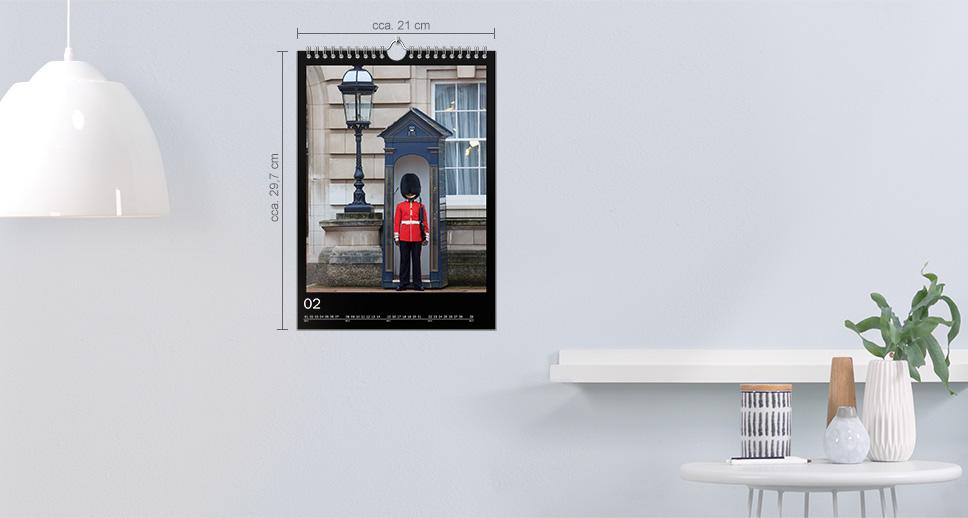 Kalendář A4 na výšku