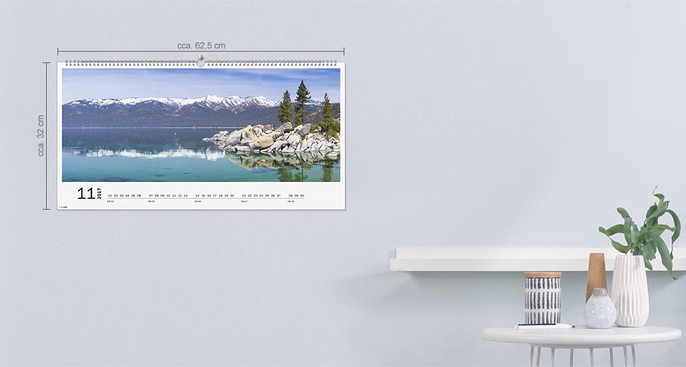 Nástěnný kalendář XXL panorama