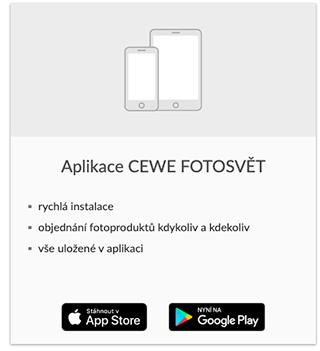 Aplikace CEWE FOTOSVĚT
