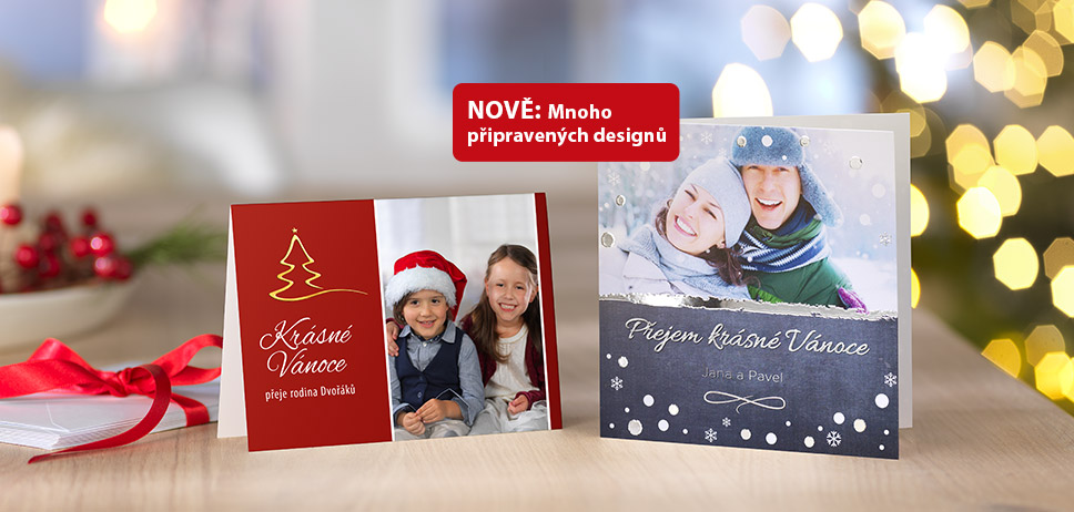 Vánoční přání, pozvánky a mnoho dalšího