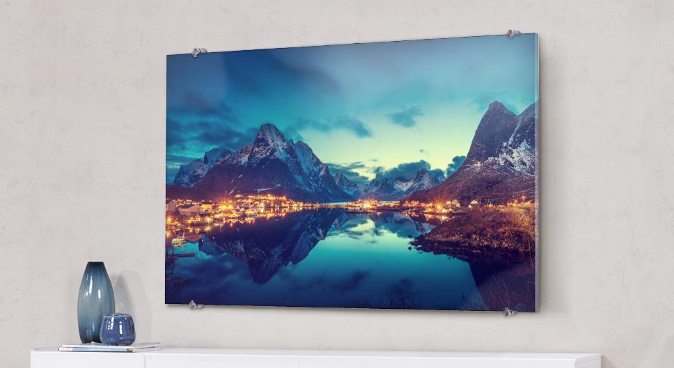 Foto za akrylovým sklem, na plátno, na dřevo a další
