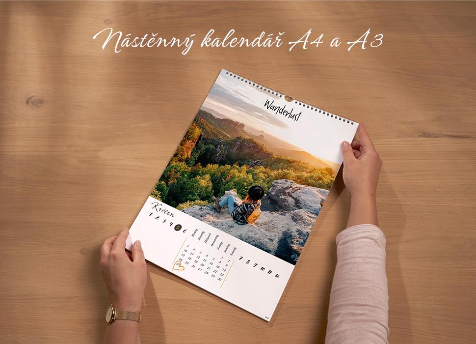 Nástěnný kalendář A4 a A3 - nejoblíbenější formáty