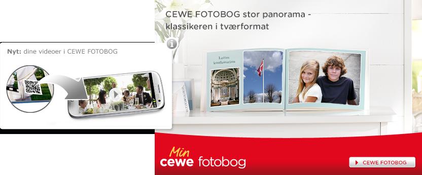 CEWE FOTOBOG Stor Panorama - klassikeren i tværformat. Vores rammer for din særlige dag