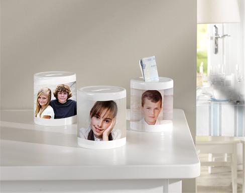 Passar särskilt bra till peng-presenter: Vår sparbössa med bild i panoramaformat