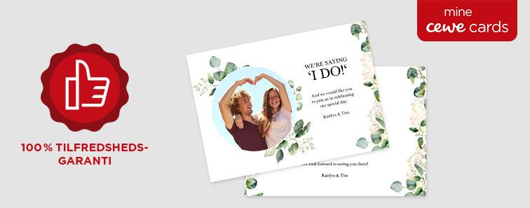 CEWE CARDS - Tilfredshedsgaranti