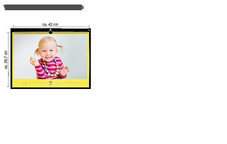 Vægkalender A4 Panorama