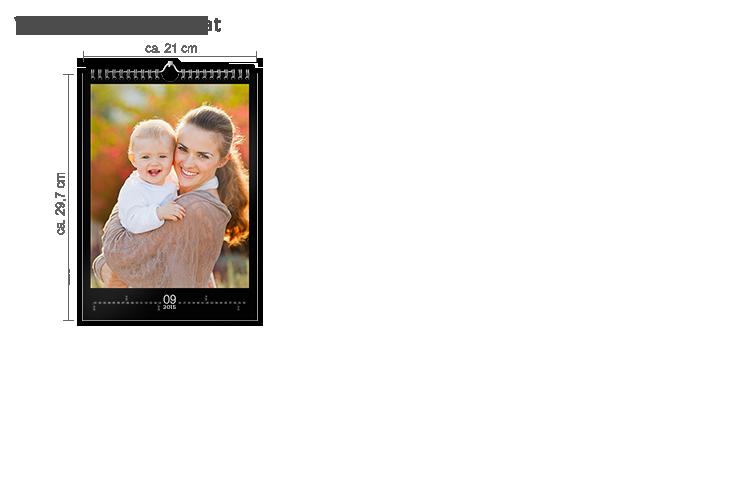 Vægkalender A4 digitaltryk