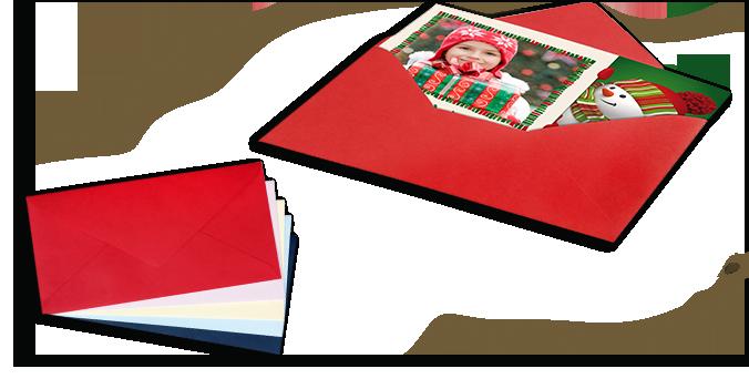 Farverige kuverter
