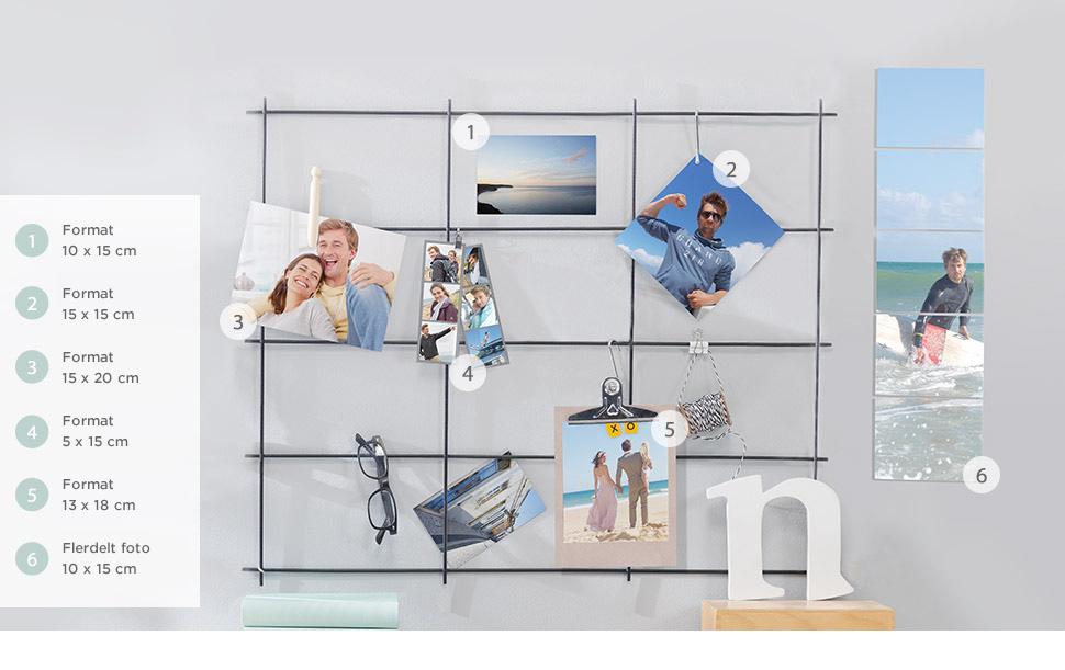 Stort udvalg af fotoprodukter til hobbyprojekter, dekoration og gaver