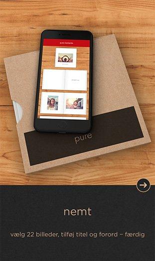 CEWE FOTOBOG Pure app - nemt