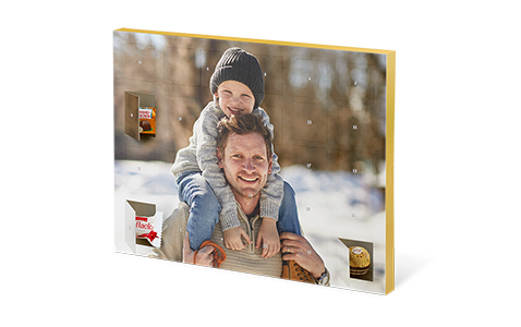 Chokoladejulekalender med Ferrero Pralinen