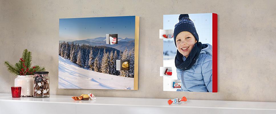 Julekalender med kinder eller Ferrero