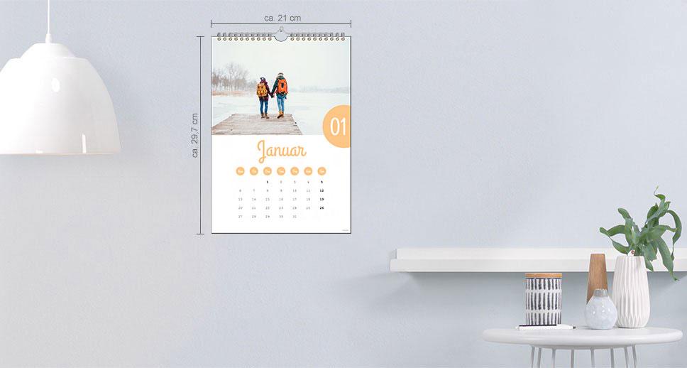 Veggkalender A4 Høyformat