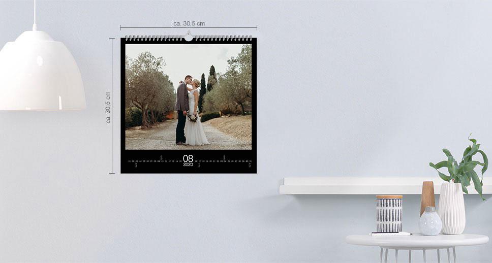 Vægkalender kvadratisk