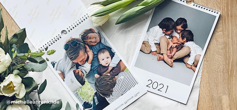 12 smukke billeder i en kalender