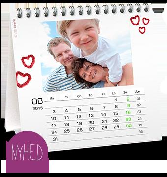 Kvadratisk bordkalender