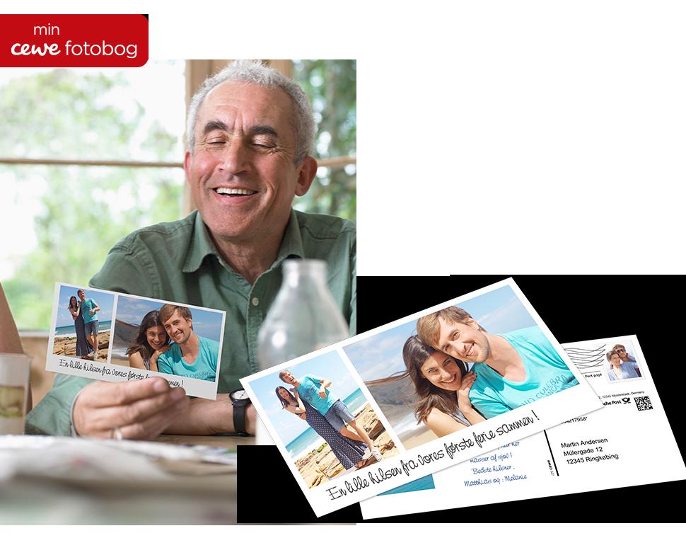 Send rigtige postkort via app