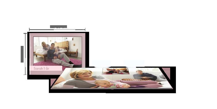 Fotoalbum Stor i tværformat: Blankt fotopapir