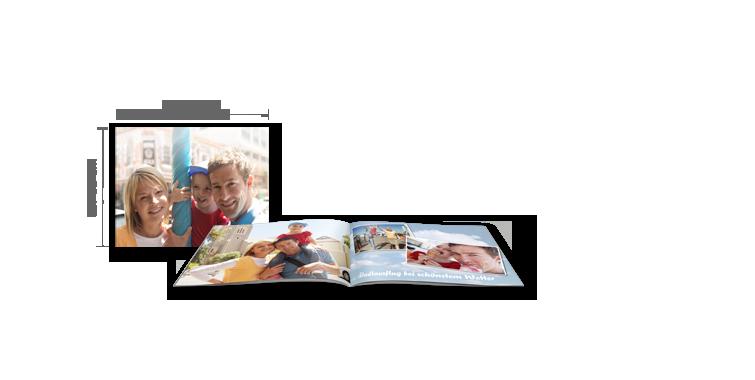 Fotobog Kompakt tværformat: Softcover-indbinding