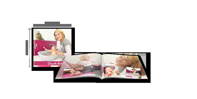 Fotobog kvadratisk: Softcover-indbinding