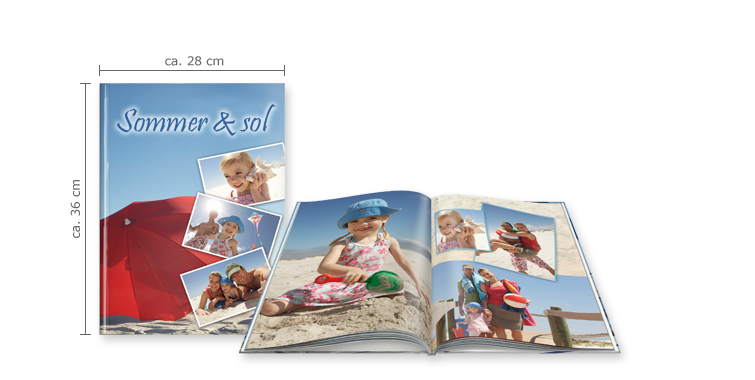 FOTOBOG XXL Højformat: Hardcover-indbinding