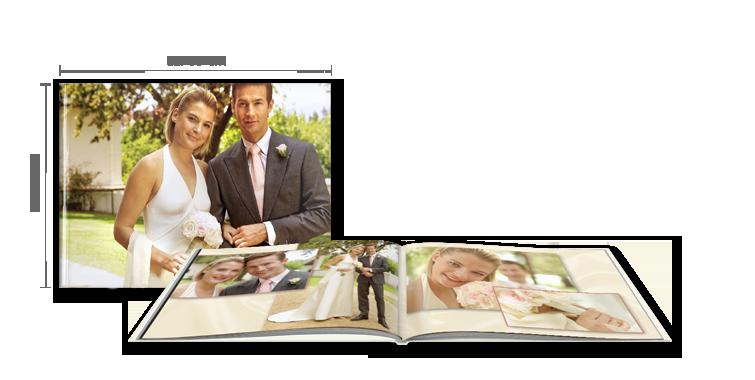 FOTOBOG XXL tværformat: Hardcover-indbinding