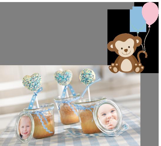 Cakepops og rabarberkage i glas