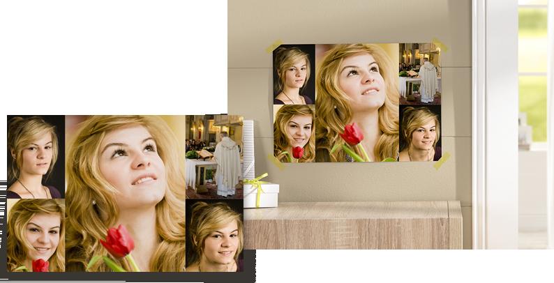 Brug billederne fra konfirmationen i en collage