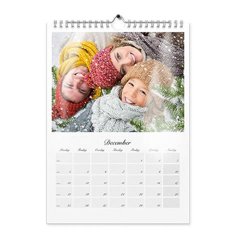 Vægkalender A4
