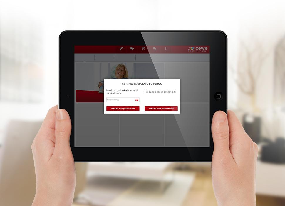 1. Angiv partnerkode når du åbner vores App