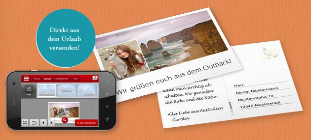 Samostatná pohľadnica s aplikáciou CEWE FOTOSVET