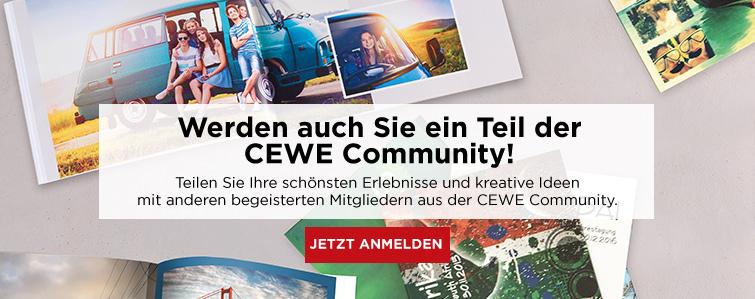 Werden auch Sie ein Teil der CEWE Community