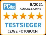 PCtipp Testsieger 2021 - CEWE FOTOBUCH