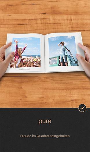 Die CEWE FOTOBUCH Pure App - pure
