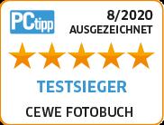 PCtipp Testsieger 2020 - CEWE FOTOBUCH