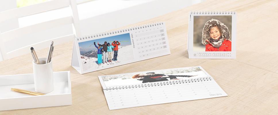 Individuelle Tischkalender mit Foto