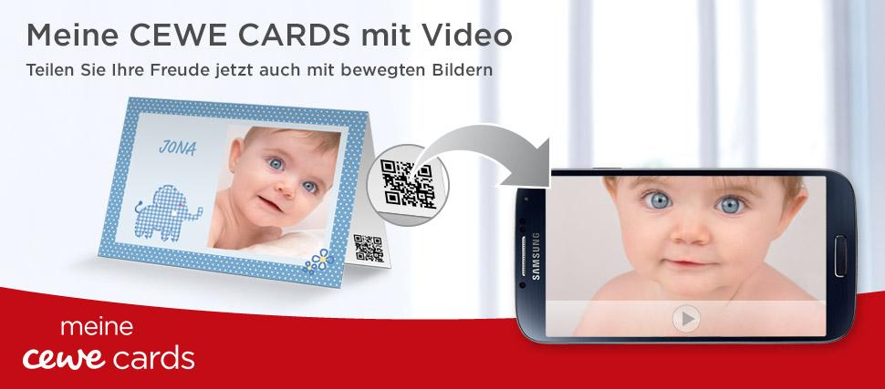CEWE CARDS – Fotogrusskarten mit Video
