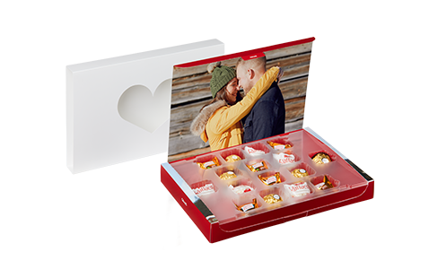 Foto-box di San Valentino con praline Ferrero