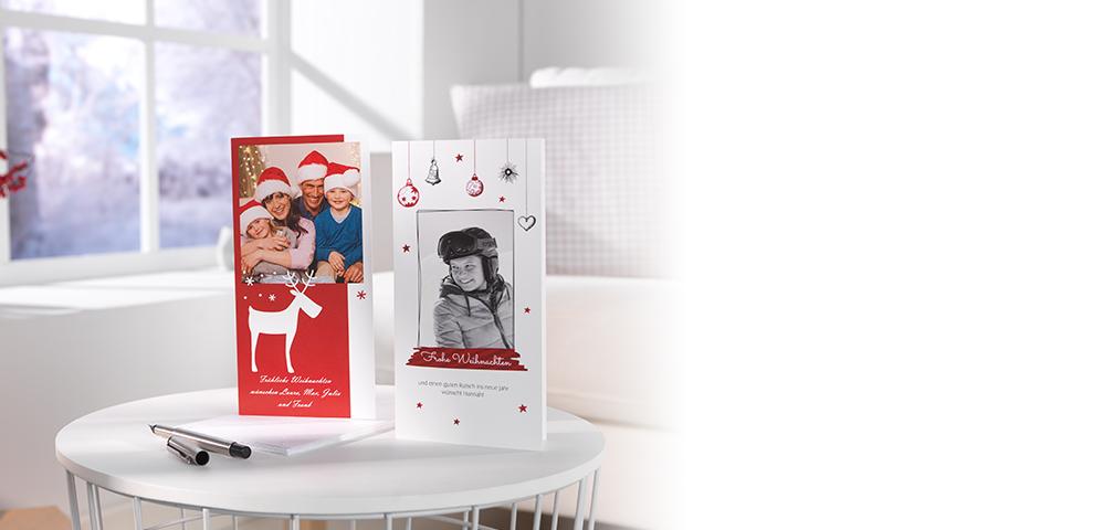Persönliche Weihnachtsgrüsse mit CEWE CARDS