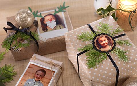 Abbellisci i regali con le foto