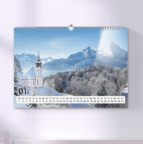Wandkalender A3 Glänzend